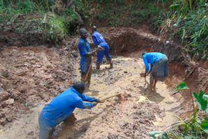 The Water Project: Indulusia Community, Yakobo Spring -  Knee Deep In Mud