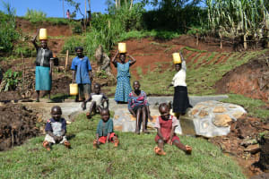 The Water Project: Indulusia Community, Yakobo Spring -  Clean Water Happy Community