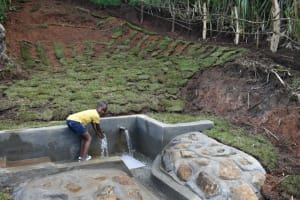 The Water Project: Indulusia Community, Yakobo Spring -  Come Get Clean Water