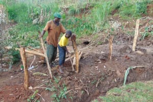 The Water Project: Indulusia Community, Yakobo Spring -  Fencing