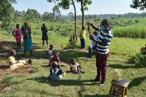 The Water Project: Indulusia Community, Yakobo Spring -  Sample Homemade Cloth Mask