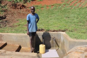 The Water Project: Indulusia Community, Yakobo Spring -  Smiles At The Spring