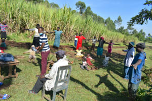 The Water Project: Indulusia Community, Yakobo Spring -  Social Distancing Test