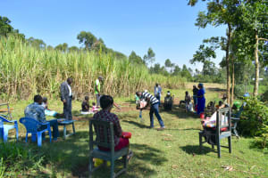The Water Project: Indulusia Community, Yakobo Spring -  Solar Disinfection Session