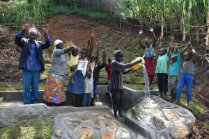 The Water Project: Indulusia Community, Yakobo Spring -  Show Of Joy Togetherness And Celebration After The Completion Of The Spring