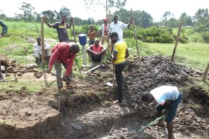 The Water Project: Makale Community, Luyingo Spring -  Site Excavation