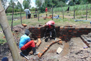 The Water Project: Makale Community, Luyingo Spring -  Drawing Point Construction