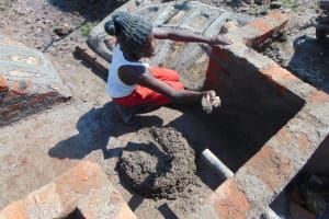 The Water Project: Makale Community, Luyingo Spring -  Plaster Works
