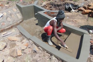 The Water Project: Makale Community, Luyingo Spring -  Stair Plaster