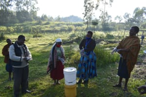The Water Project: Makale Community, Luyingo Spring -  Betty Teaches The Ten Handwashing Steps