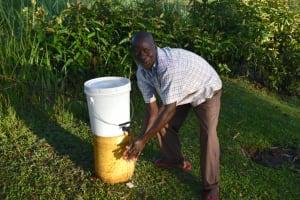 The Water Project: Makale Community, Luyingo Spring -  Handwashing Demonstration