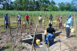 The Water Project: Makale Community, Luyingo Spring -  Site Maintenance Training