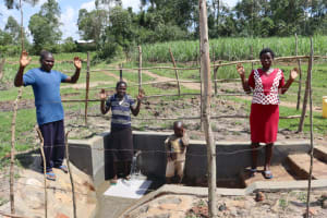 The Water Project: Makale Community, Luyingo Spring -  Celebrating The Spring