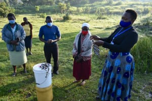 The Water Project: Makale Community, Luyingo Spring -  Homemade Mask Making Training