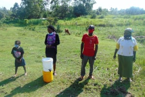 The Water Project: Makale Community, Luyingo Spring -  Practicing Safe Distancing