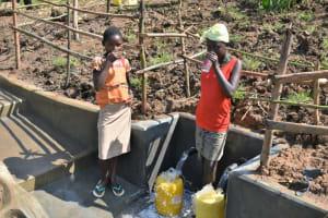 The Water Project: Shitavita Community, Patrick Burudi Spring -  Drinking Water
