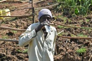 The Water Project: Shitavita Community, Patrick Burudi Spring -  Patrick Burudi Enjoys A Glass Of Spring Water