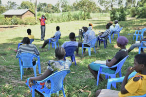 The Water Project: Shitavita Community, Patrick Burudi Spring -  Training On Proper Mask Wearing