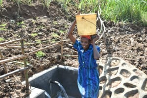 The Water Project: Shitavita Community, Patrick Burudi Spring -  Ready To Take Clean Water Home