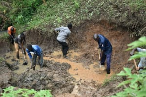 The Water Project: Silungai B Community, Tali Saya Spring -  Site Excavation