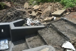 The Water Project: Silungai B Community, Tali Saya Spring -  Stairs Construction