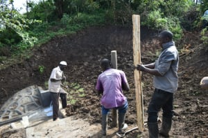 The Water Project: Silungai B Community, Tali Saya Spring -  Fencing