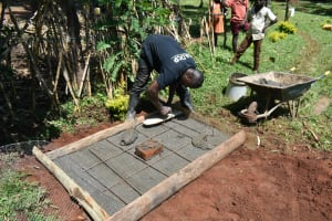 The Water Project: Silungai B Community, Tali Saya Spring -  Sanitation Platform Construction