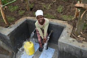 The Water Project: Silungai B Community, Tali Saya Spring -  Enjoying Water