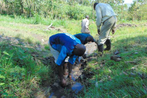 The Water Project: Lukala C Community, Livaha Spring -  Drainage Opening