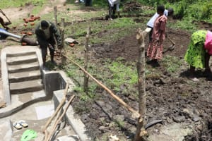 The Water Project: Lukala C Community, Livaha Spring -  Spring Fencing