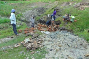 The Water Project: Lukala C Community, Livaha Spring -  Spring Construction Site