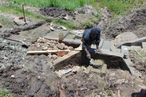 The Water Project: Lukala C Community, Livaha Spring -  Plastering Interior Headwall
