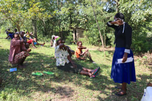 The Water Project: Lukala C Community, Livaha Spring -  Coughing Into The Elbow