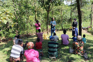 The Water Project: Lukala C Community, Livaha Spring -  Introducing Water User Committee Leaders