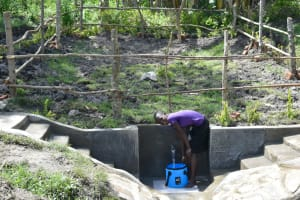 The Water Project: Lukala C Community, Livaha Spring -  Priscilla At The Completed Spring