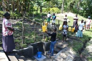 The Water Project: Lukala C Community, Livaha Spring -  Site Maintenance Training
