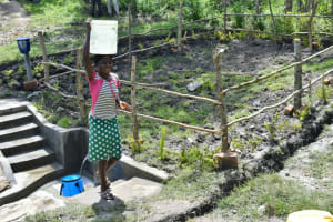 The Water Project: Lukala C Community, Livaha Spring -  Clean Water Ready For Use