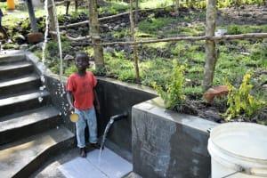 The Water Project: Lukala C Community, Livaha Spring -  Making A Splash