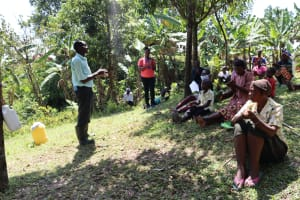 The Water Project: Lukala C Community, Livaha Spring -  Man Shares Thanks For The