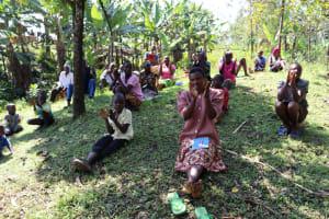 The Water Project: Lukala C Community, Livaha Spring -  Practicing Handwashing Steps