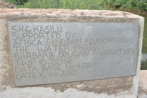 The Water Project: Nzimba Community -  Plaque