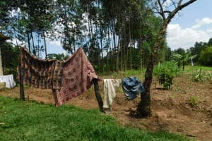 The Water Project: Muyundi Community, Magana Spring -  Clothes Drying
