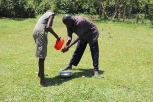 The Water Project: Mukoko Community, Zebedayo Mutsotsi Spring -  Albert Washing His Hands
