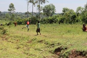 The Water Project: Mukoko Community, Zebedayo Mutsotsi Spring -  Children Playing Football