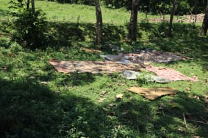The Water Project: Mukoko Community, Zebedayo Mutsotsi Spring -  Clothes Drying On The Ground