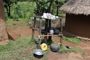 The Water Project: Mukoko Community, Zebedayo Mutsotsi Spring -  Dishrack