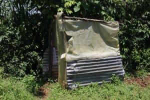 The Water Project: Mukoko Community, Zebedayo Mutsotsi Spring -  Bathroom