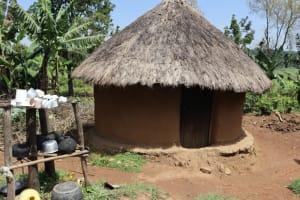 The Water Project: Mukoko Community, Zebedayo Mutsotsi Spring -  Outside Kitchen