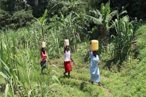 The Water Project: Shivagala Community, Alois Chiedo Spring -  Carrying Water