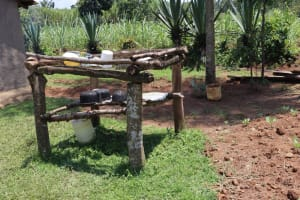 The Water Project: Shivagala Community, Alois Chiedo Spring -  Dishrack